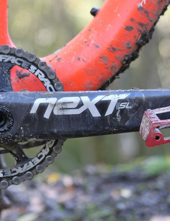 The T-130C is designed speifically for a single chainring. The Works model gets the light yet stiff Race Face Next crankset