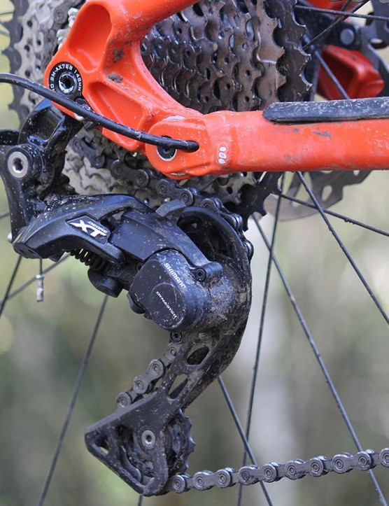 Shimano's latest 11-speed Deore XT transmission offers a decent spread of gears and dependable performance
