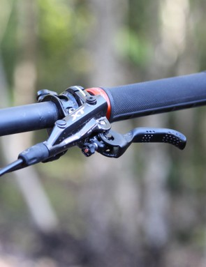 Stopping is taking care of courtesy of Shimano's XT brakes