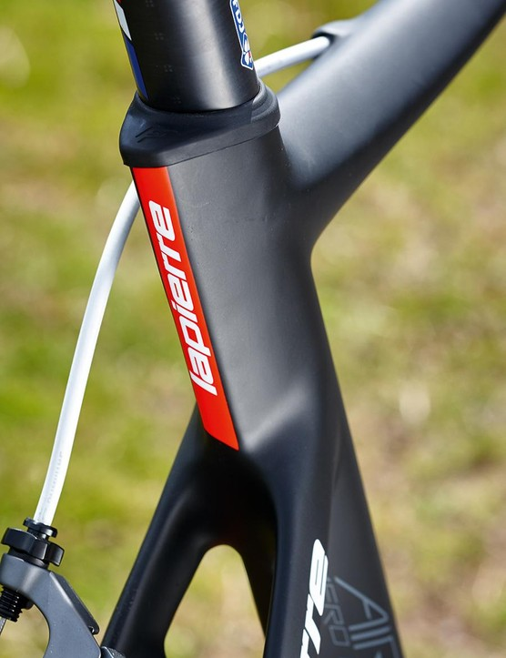 To help lose weight, the number of layers of carbon in the seat tube have been reduced