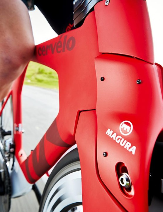 Are hydraulic rim brakes the future for wind- cheating TT bikes? We're not convinced, but the Maguras were very impressive