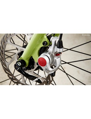 Cable-actuated disc brakes offer plenty of power