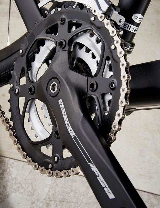 The triple setup means a great range of gears are on offer