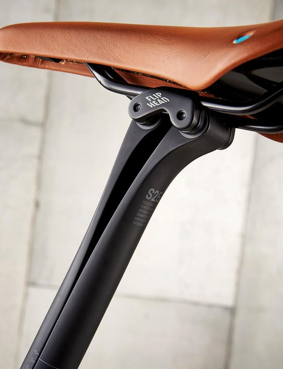 The VCLS post is topped by a high-end San Marco saddle