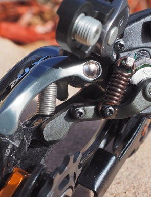 Dual return springs promise snappy shifts to smaller cogs