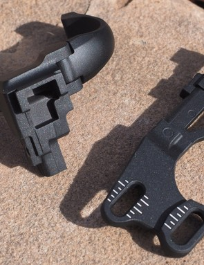 Shimano currently offers four different adapter brackets for front derailleur: high and low-clamp, and high and low direct mount