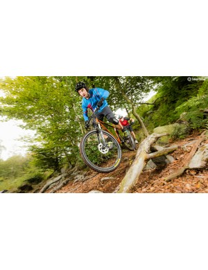 The Karate Monkey's S-bent seat tube allows big clearances within a reasonable length rear end but limits how far you can drop the saddle on steeper trails