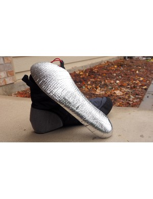 The included insoles feature a reflective base to help keep heat inside the shoe