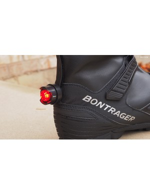 Bontrager has even included an attachment point on the back for an LED flasher