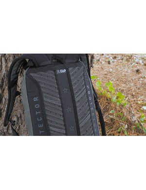 A ventilated back panel helps combat excess perspiration while en route to your destination