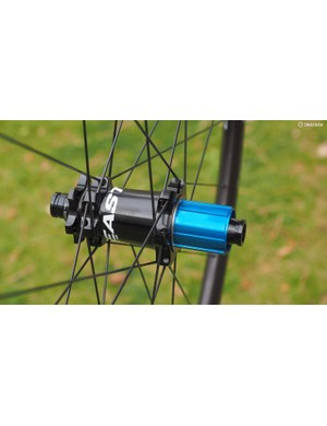 Both rims are built around Easton's long-running M1 hubs, which are easily converted between multiple axle formats