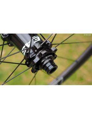 Older Easton M1 hubs used adjustable preload collars, which were prone to overtightening and premature bearing wear. New versions now feature an internal sleeve with adjustments required, and far less axial stress on the bearings
