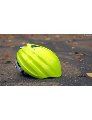 Lazer's Aeroshell snap-on cap is nothing new but this fluorescent option should improve rider visibility as winter approaches