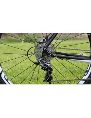 The Rapture uses rockered dropouts allowing the frame to be set up with gears or used as a singlespeed