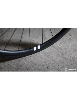 Small reflective decals denote the valve stem hole