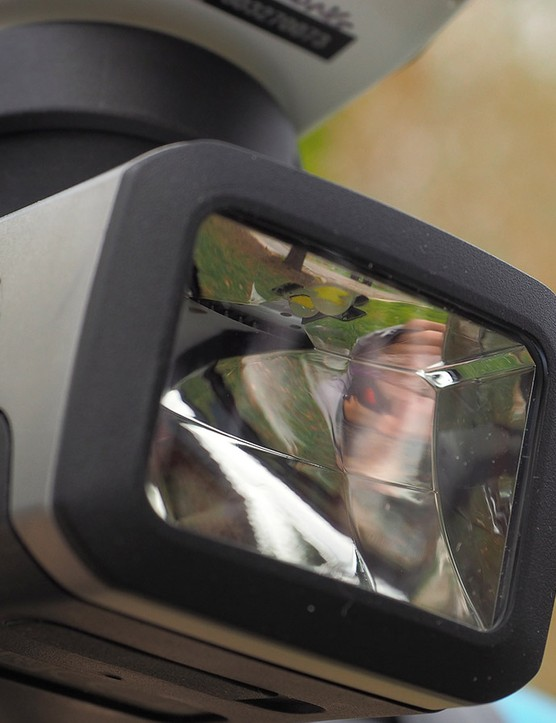 When paired with a compatible Garmin Edge computer, the Varia front light will adjust its aim based on your speed