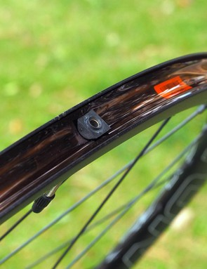 The rims come pre-taped for tubeless use and the requisite valve stems are included, too