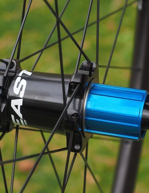 Easton builds the EA90 SL Disc wheels around its long-running M1 hubset. Past bearing issues have supposedly been squelched with the revisions instituted in 2013