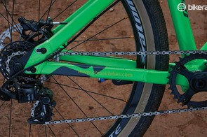 The seven-speed DH gearing on our custom build hints at the Toro's versatility