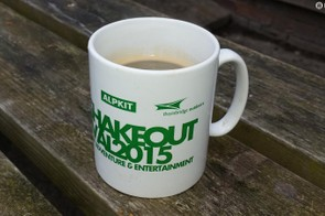A bit like the holy grail. This £3 Big shake out Mug gets you free tea and coffee for the whole weekend!