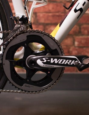 Chainset is S-Works, with SRAM Red chainrings