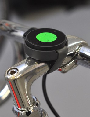 An electronics-free prototype mounted on the bars. The mechanism works well, though how the puck will be secured within the casing is still to be determined