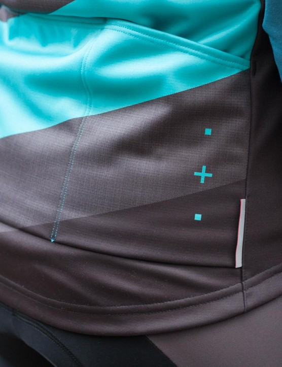 The ASV Roubaix Gillet has three rear pockets, but doesn't have the extra zipped pocket included on the ASV Roubaix jersey
