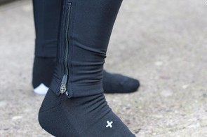 The ASV Roubaix bib tights incorporate zips at the ankle, and there are even merino socks to finish the outfit