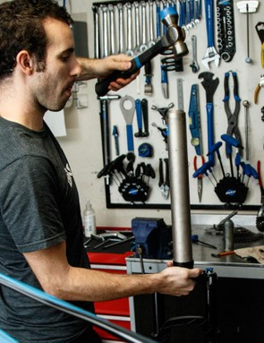 A build from scratch does need a few specialist tools. The most obvious examples are those for cutting the steerer tube and installing a crown race