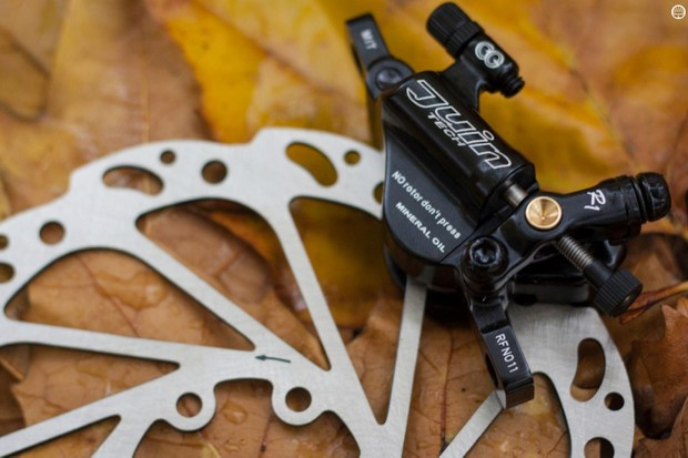 We'll ride these Juin Tech brakes long and hard to test performance