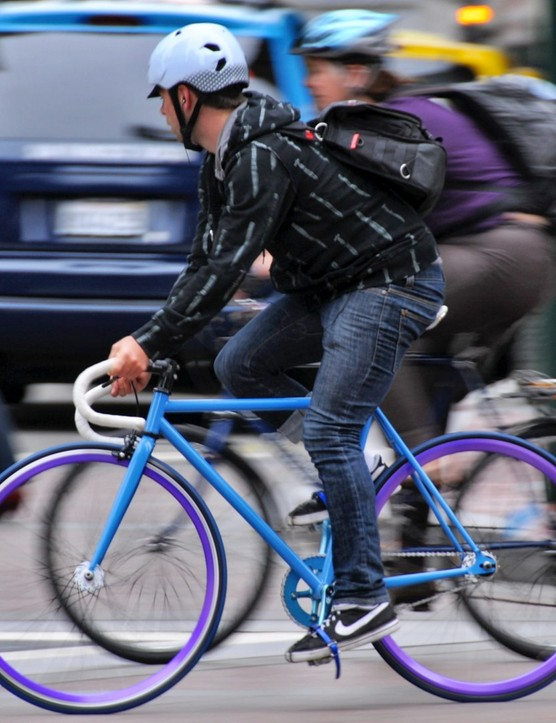 While cycling campaigner Carlton Reid believes cyclists often have good safety reasons for doing so