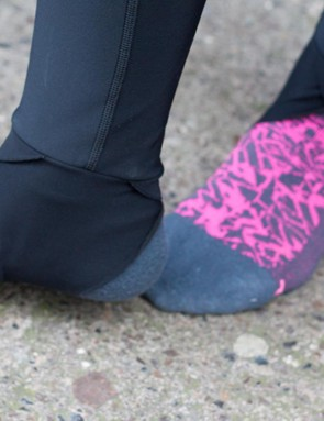 The stirrups on the Zero Superfly bib tights sit closely against the foot