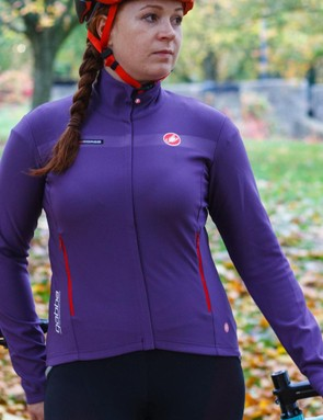 The Castelli Gabba long sleeve, available in purple, black or red