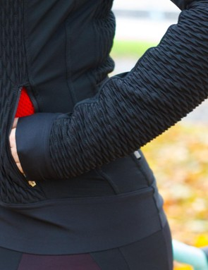 The quilting of the Lycra fabric is designed to provide insulation and increased breathability