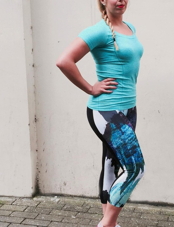 The new Active Wear line includes the Stone Crop Leggings and the Airspan Knit Shirt
