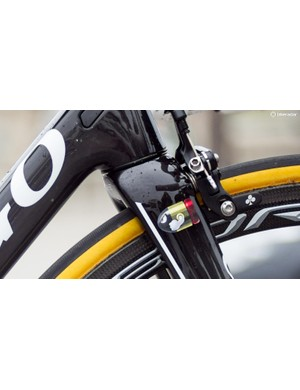 The brakes are direct-mount, a first for Colnago, while the subtle Belgian Bullet decal adds a nice finishing touch