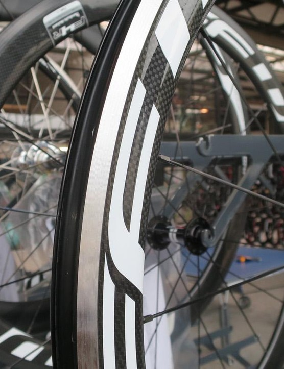 FFWD specialises in carbon, but does also build a more affordable carbon-alloy hybrid road wheel
