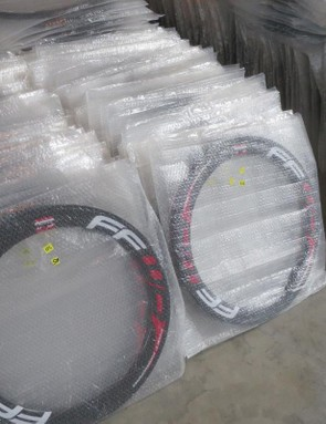 When rims arrive at Zwolle, they're checked and visually inspected before heading out to a test lab to be X-rayed and approved
