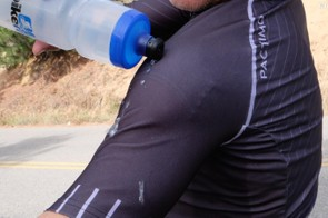 The Pactimo Storm Jacket looks and feels like a short-sleeve jersey, but sheds water like a champ