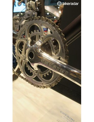 Even the Campagnolo chainset has the Chesini custom touch