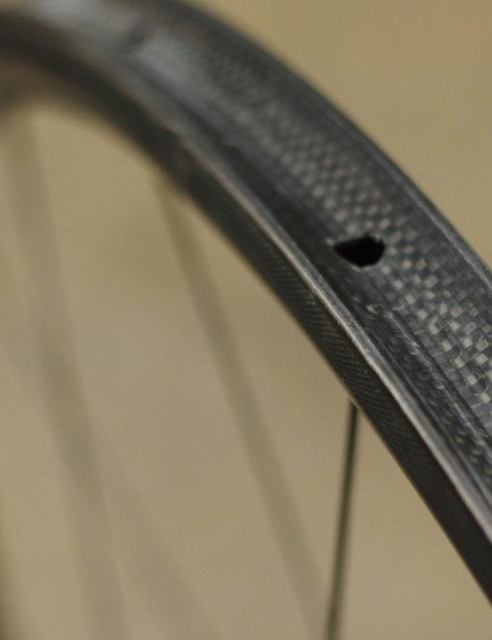… and the rims feature a new brake track that's claimed to massively improve stopping in the wet