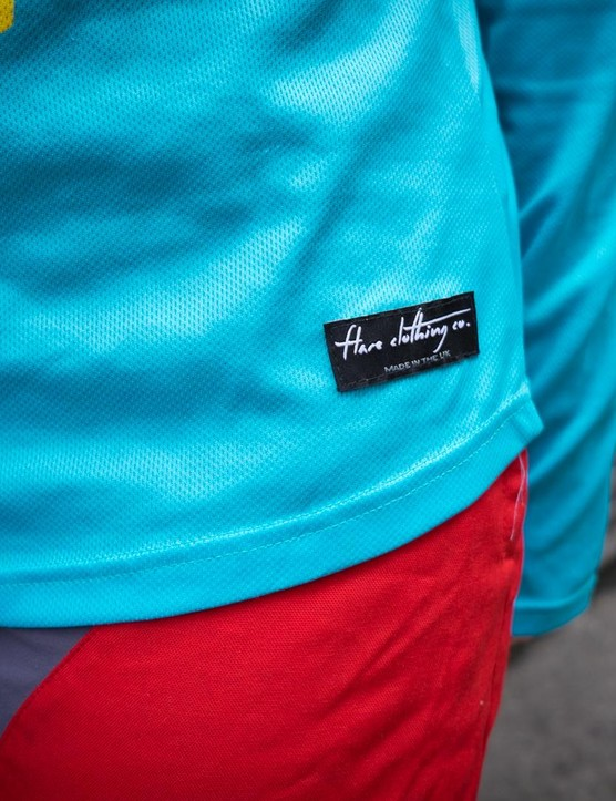The Flare Roost Downhill jersey is made in the UK