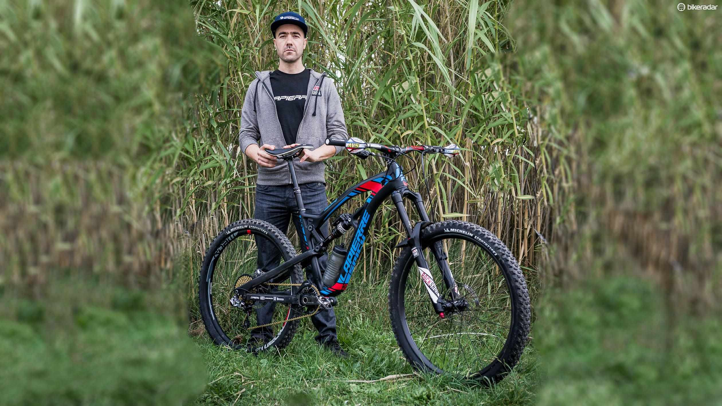 Nico Vouilloz with his 2016 Spicy Team, a bike he's helped design from the ground up