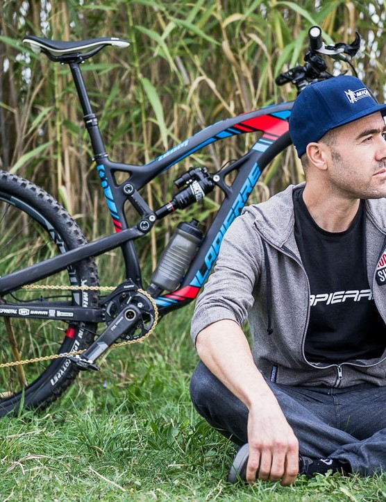 Vouilloz is more than just a team rider for Lapierre. He's a salaried member of its R&D team and signs off on all the firm's mountain bikes when his perfectionism allows
