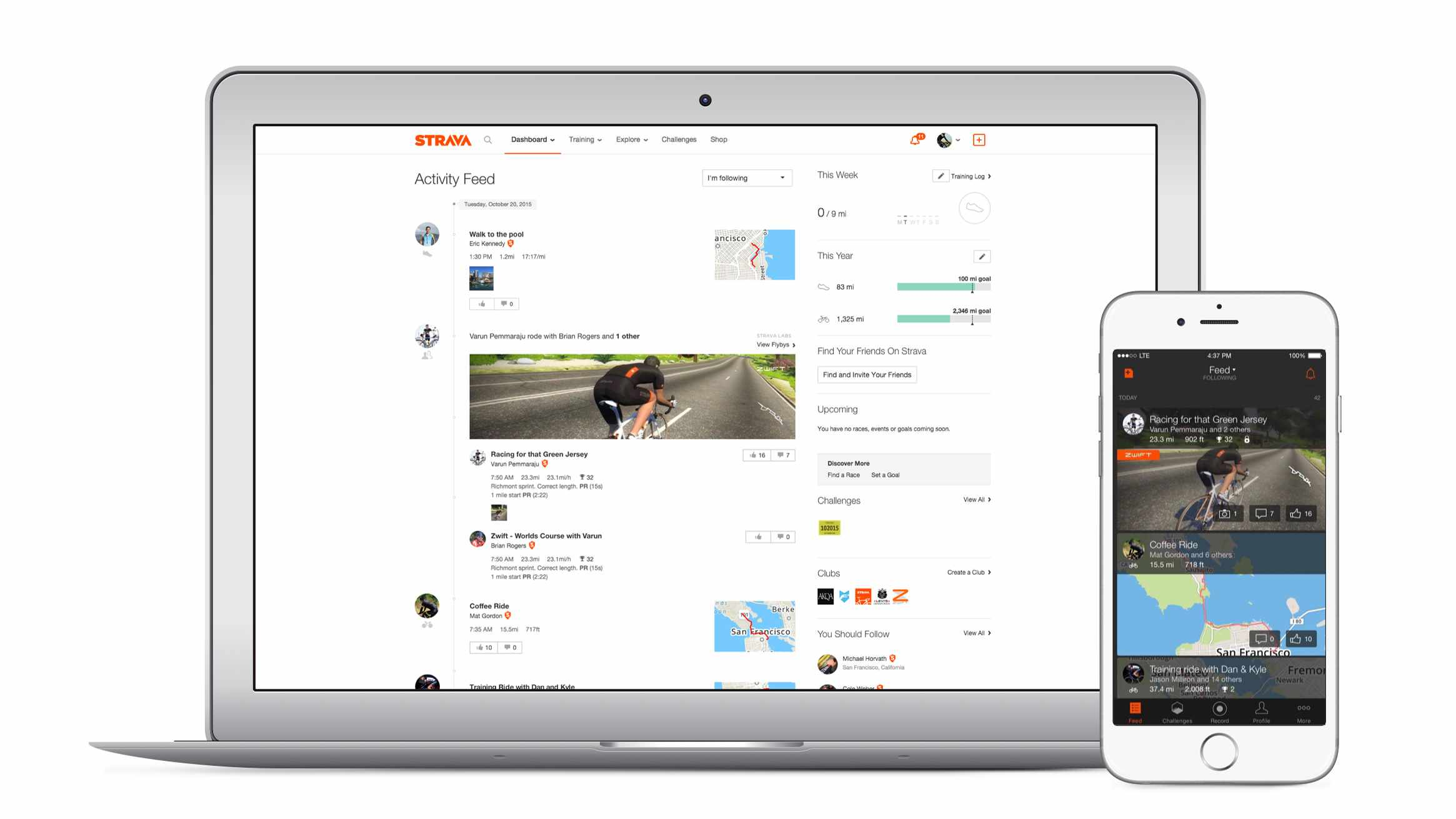 You'll even be able to attack Strava Segments virtually