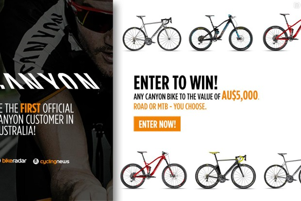 Are you an Australian reader? Enter for your chance to win a AU$5,000 bike from Canyon!