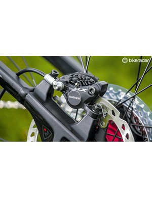 The SLX brakes handled steep terrain without flinching