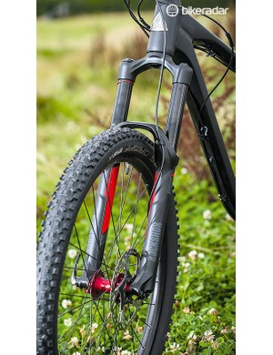 The Pike fork provides support and stiffness to help deal with the riding position