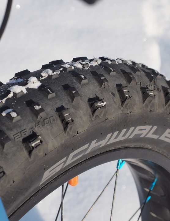 When it comes to winter riding — on road or off — it's all about the tires. Maximize your footprint, lower your air pressures, and look for softer rubber compounds that will stay more pliable in cold temperatures