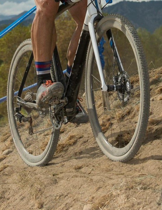 Testing in cyclocross has shown great promise; the tubulars don't budge